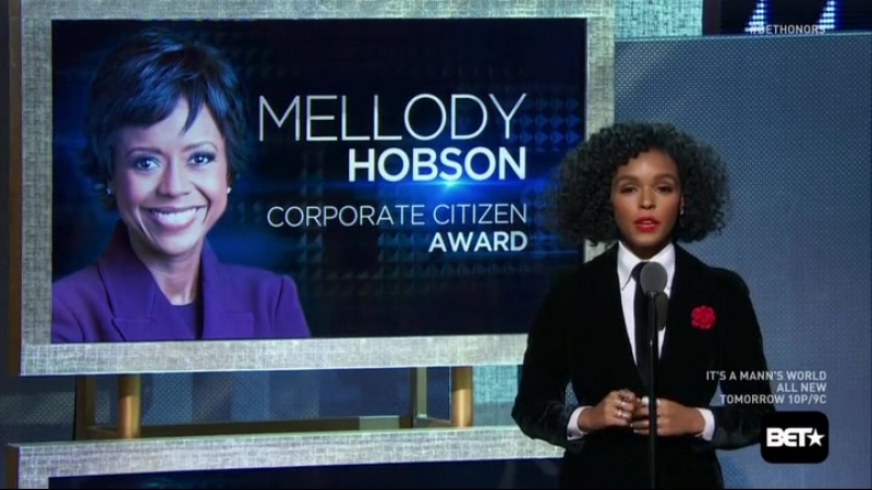 Janelle Monáe presents Mellody Hobson the Corporate Citizen Award | BET Honors 2016