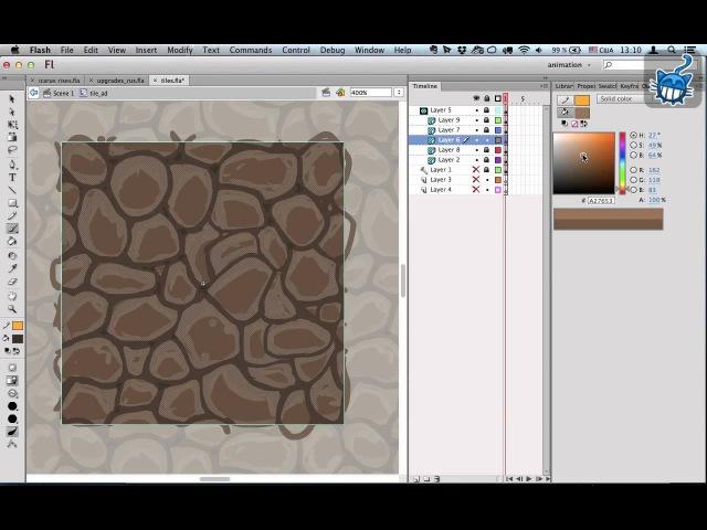 Как рисовать тайлы для игры во Flash