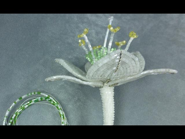 Амазонская лилия из бисера Урок 5 Сборка цветка Beaded amazon lily Lesson 5 Flower assemly