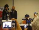 150605 Fanmeet Guests Star Anicult II 2015- Surabaya _ Baozi Hana, Nakoto Kuryu doing Kabedon