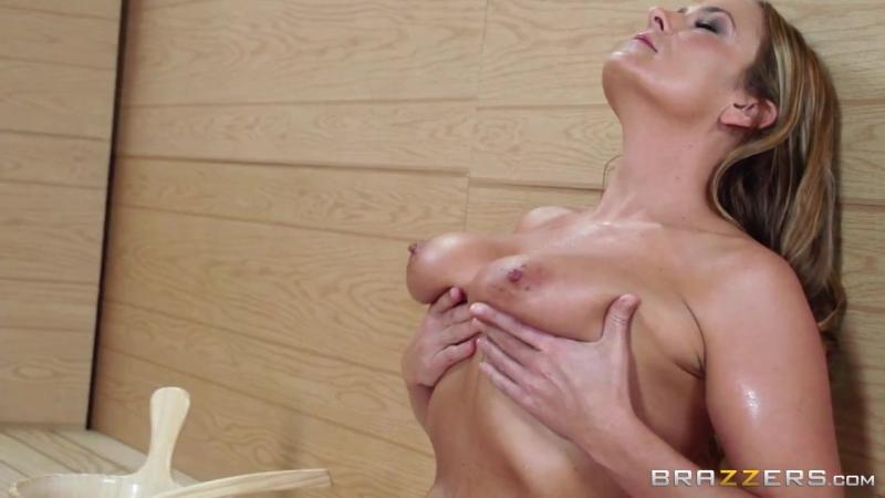 Секс с Милфой в сауне ( MILF, Blowjob, Monster Cock, Sex in Sauna, Cum on Tits, Big Tits,