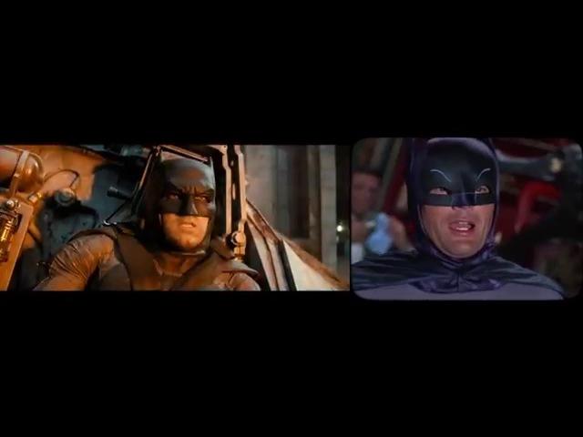 Бэтмен против Супермена сравнение современного трейлер и трейлер 1966 года Рифмы и Панчи