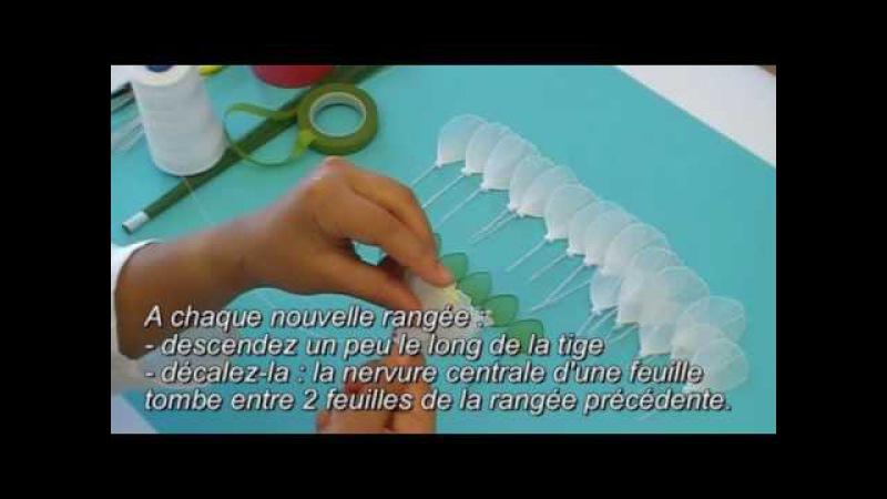 Fabrication dune pivoine en collant Nylon Peony