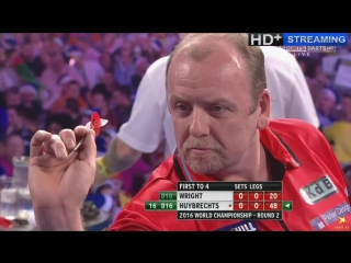 Peter Wright vs Ronny Huybrechts (PDC World Darts Championship 2016 / Round 2)