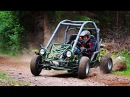 Suzuki SV650 crosskart (buggy) offroad drifting and crashes