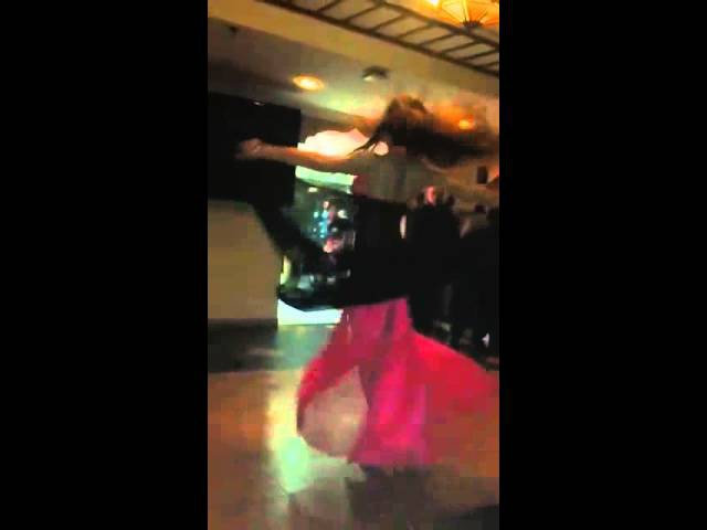 Belly dancer Azza in UAE Mashaal live band