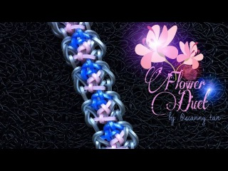 FLOWER DUET Hook Only bracelet tutorial