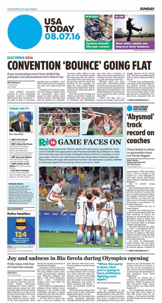 USA Today  August 07 2016