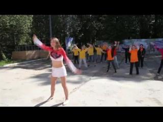 Флешмоб на туристическом слете работающей молодежи Фестиваль 80