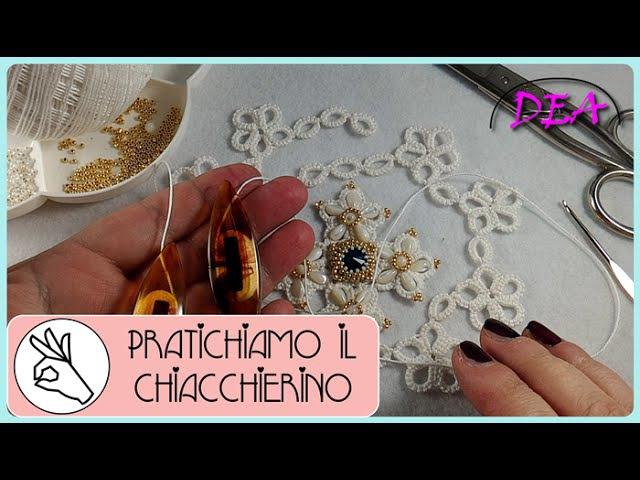 Chiacchierino a Navette Cerchio Split Ring Pippiolino legature e decorazione