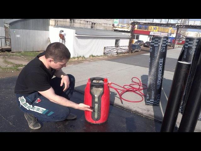 Кровля гаража Как самому правильно покрыть крышу гаража Наплавляемая гидроизоляция своими руками