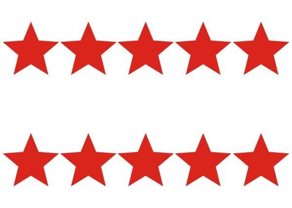 Картинки красных звезд для вырезания