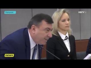 Т.Демидова и К.Пшиншев на открытии кафедры ФАС в КБГУ