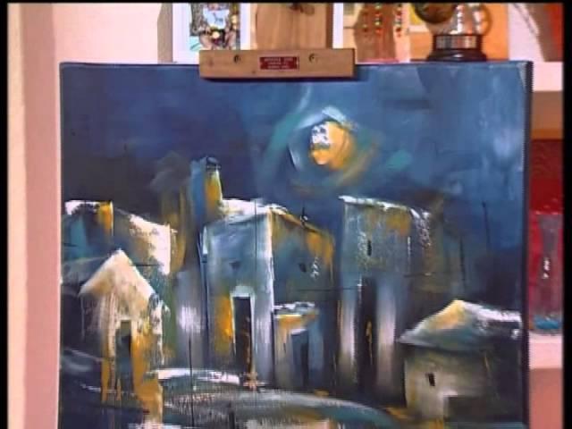 MONITOR Gaby Mensaque pintando un paisaje con Acrílicos Profesionales Lautrec Manos a la Obra