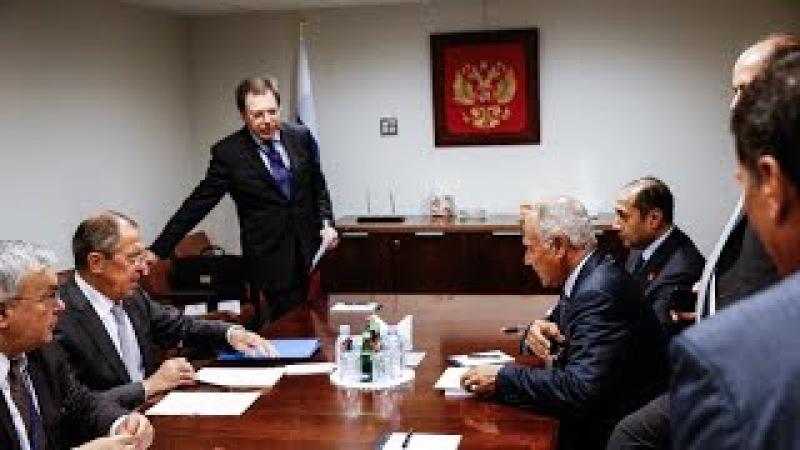 Sergey Lavrov Ahmed Aboul Gheit С Лавров и А Абуль Гейт