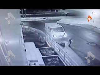 Момент расстрела инкассаторов в Химках