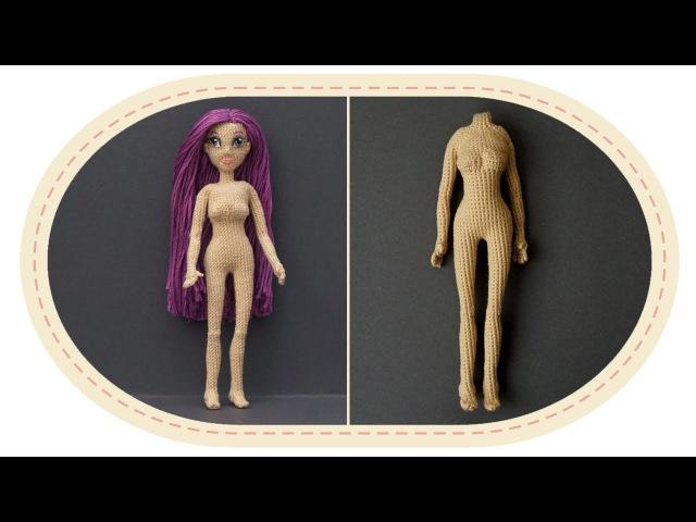 Кукла крючком Виолетта часть 4 Тело часть 2 Crochet doll Violetta part 4 Body part 2