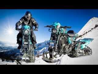 EPIC Harley-Davidson Snowbike Jump - Snow Drag