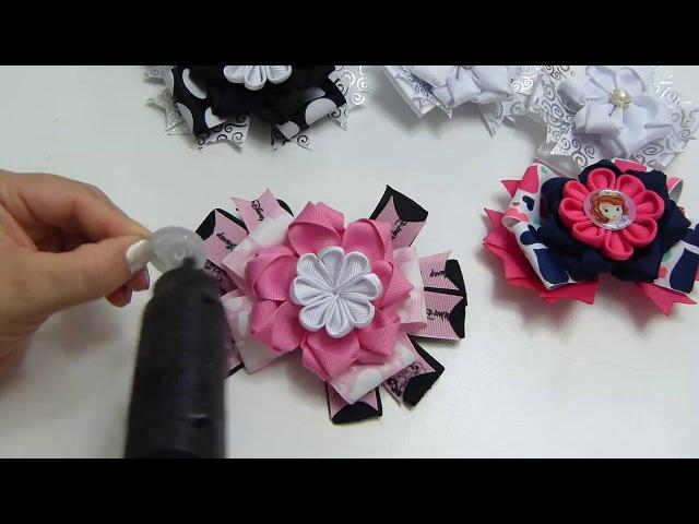 Moños pequeños flores fáciles en listón, Lazos fáciles Gros, Diy 538/How To Make A Hair Bow