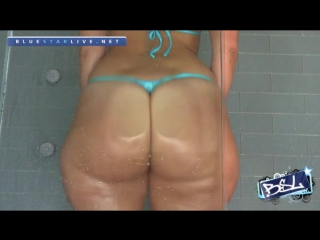 Rosee divine in gold blue thong shower hd french big ass booty butts tits boobs bbw pawg curvy chubby wide hips pear shaped