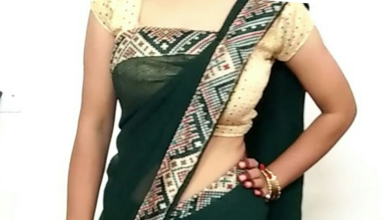 HOW TO DRAPE GEORGETTE SAREE IN FLAT FRONT PALLU WITH THIN PLEATES PERFECTLY STEP BY STEP 2018