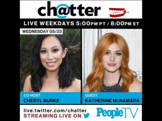 Announcement Katherine McNamara on the show Chatter