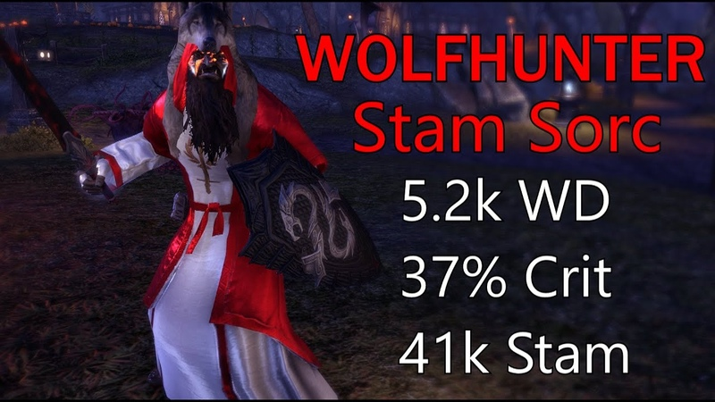 ESO Varxent's Summerset Wolfhunter Stam Sorc 1vX 2h Build