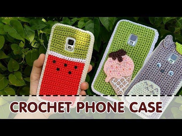 [206pro][snailboo] CROCHET PHONE CASE | Ideas Tutorial | Watermelon | Icecream | Totoro