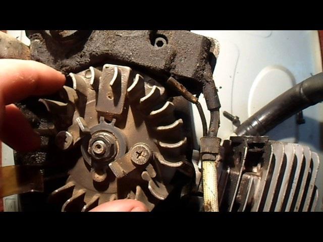 Как выставить зажыгание на бензопиле How to put zazhiganie on the chainsaw