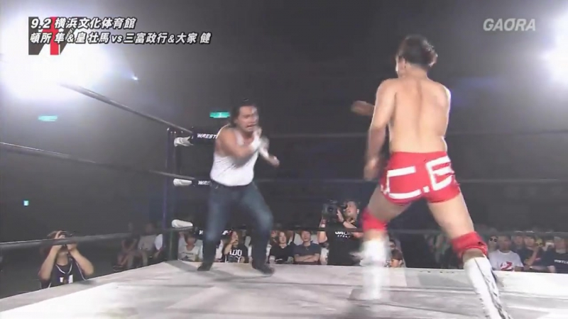 Ken Ohka Masayuki Mitomi vs Jouji Tonizawa Shiba Hayabusa WRESTLE 1 Pro Wrestling Love in Yokohama 2017