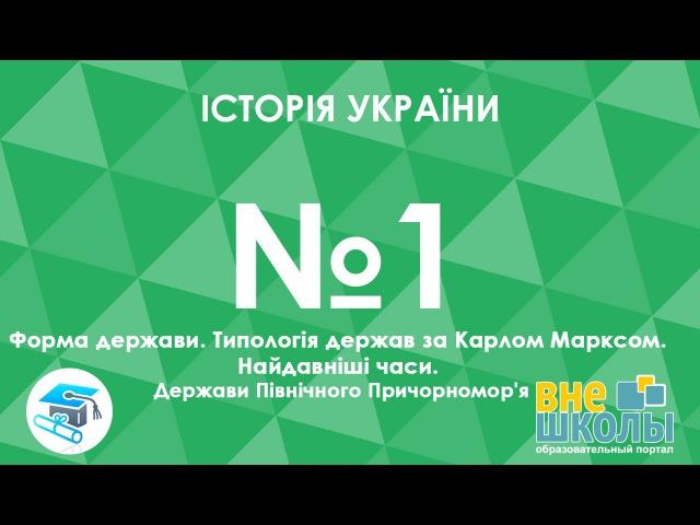 Онлайн урок ЗНО Історія України №1 Форма держави Типологія держав за Карлом Марксом Найдавніші часи