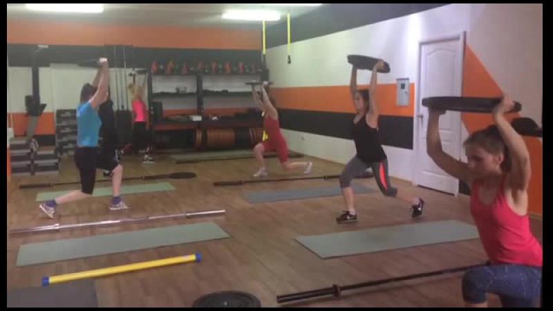 Тренировка в мини группе Алены Малиновской