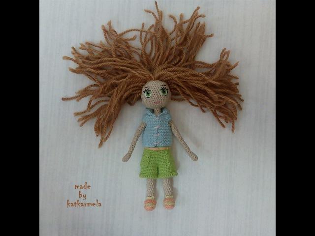 Вязание каркасной куклы Цумуги
