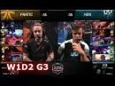 Fnatic vs H2K Gaming | Week 1 Day 2 of S8 EU LCS Spring 2018 | H2K vs FNC W1D2 G3