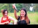 Increible Pesca con tecnología primitiva, 2 bellas Jovencitas en pesca Tradicional de Camboya