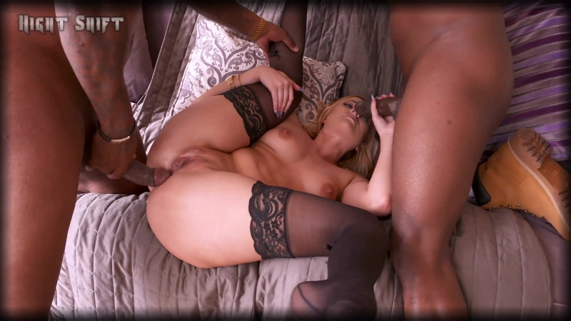 Kate England Double Penetration (1080) Interracial creampie cum inside