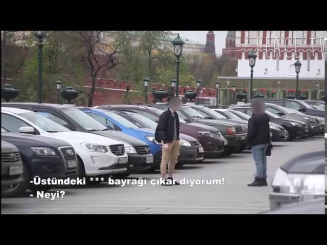 Rusyada Türk Bayrağı İle Dolaşmak Sosyal Deney