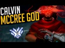 Best McCree Player AIMBOT Calvin Rank 1 McCree Overwatch Montage