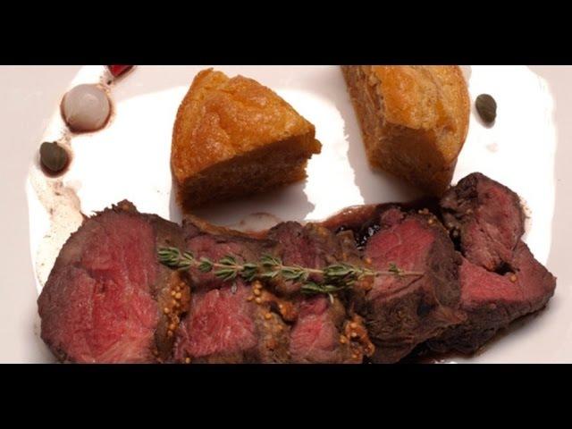 Ростбиф с яичным пудингом Мясо От филе до фарша