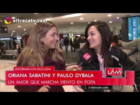 Oriana Sabatini volvió de Italia - Nota LAM
