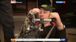 """Рекордный веломобиль """"Тетива"""".  Телеэфир канала """"Россия1"""" (2016)"""