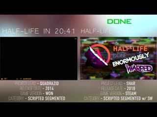 [ALLAN] Half-Life 20:41 VS. New World Record (6:26) - Speedrun Comparison
