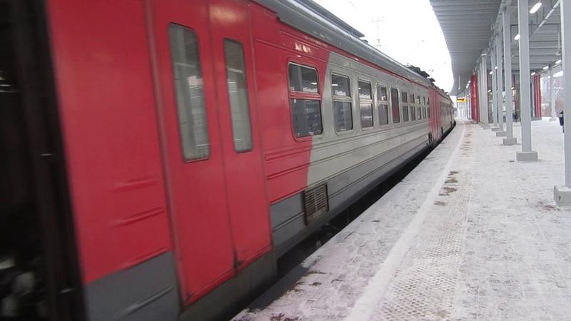 Электропоезд ЭД4М-0429 платформа Верхние Котлы 27.12.2018