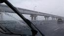 Ливень на Крымском мосту!