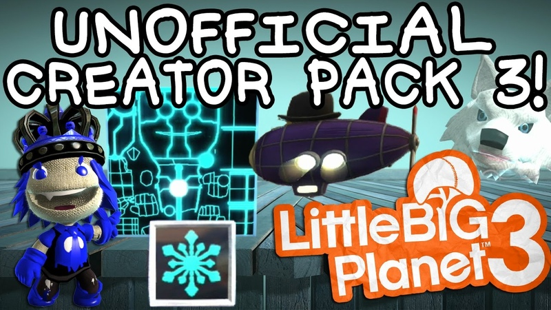 LBP3 Unofficial Creator Pack 3 Background Changer Skin Materials Freezatron More