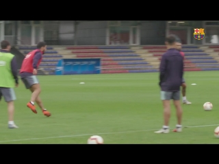 Back to training to prepare for huesca's first visit to camp nou.mp4