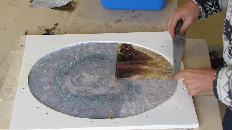 Создается художественная мозаика - Realizzazione di un mosaico artistico