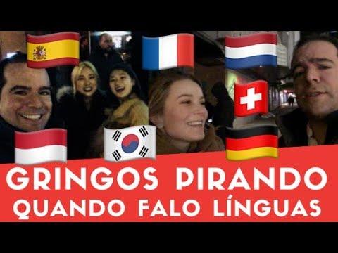 Gringos PIRANDO Quando Falo Línguas Bate Papo Em Idiomas Diferentes Gabriel Poliglota