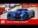DS X E Tense l'essai sur piste du concept car Double Face
