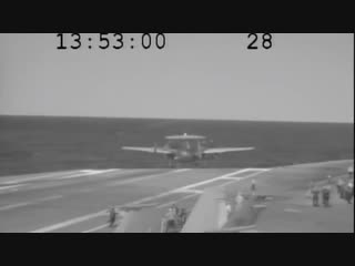 E-2c hawkeye nearly crashes into sea after arresting cable snaps